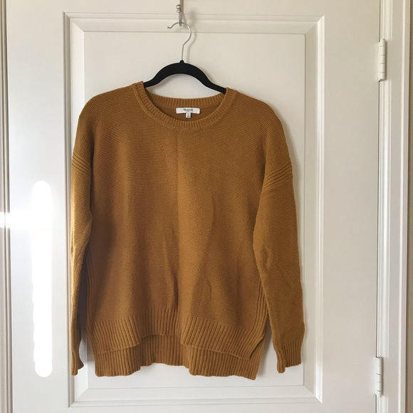 Madewell Sweaters - Sold! Madewell mustard relaxed fit sweater, size S